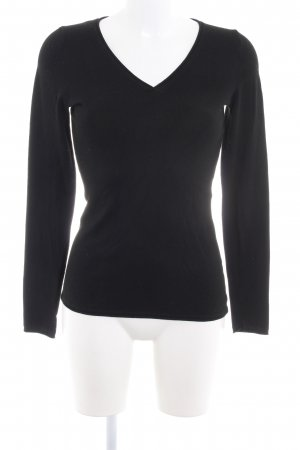 Comma Knitted Sweater black simple style