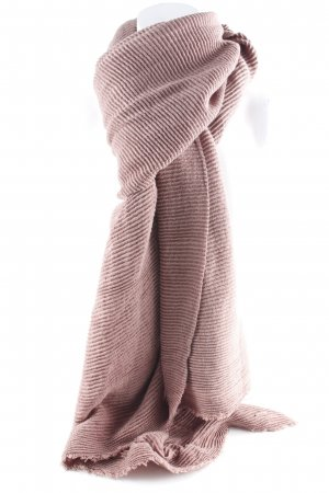 Comma Gebreide sjaal mauve casual uitstraling