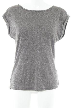 Comma Camisa tejida marrón grisáceo-color plata look casual