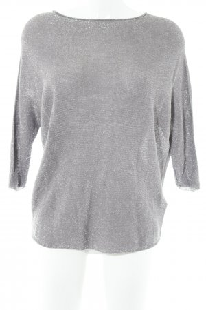 Comma Knitted Jumper grey lilac-silver-colored casual look