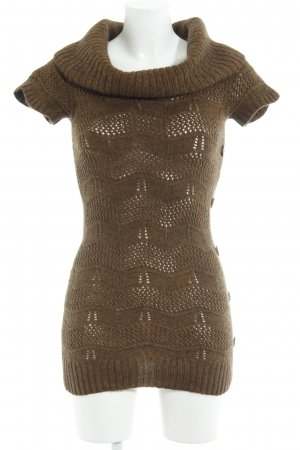 Comma Knitted Jumper ocher-black brown flecked casual look