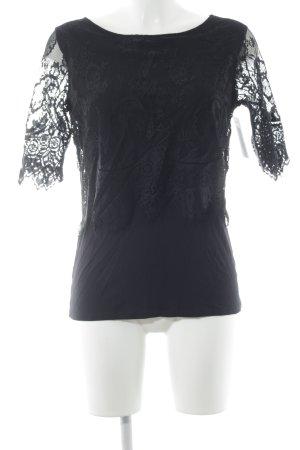 Comma Camisa tejida negro look casual