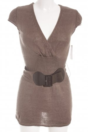 Comma Knitted Top grey brown casual look