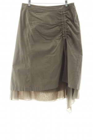 Comma Broomstick Skirt grey brown casual look