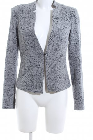 Comma Sweat Blazer light grey-black allover print business style