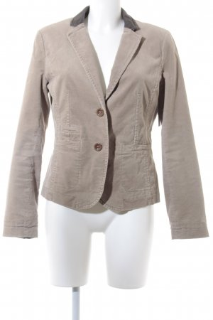 Comma Sweatblazer dunkelbraun-creme Casual-Look