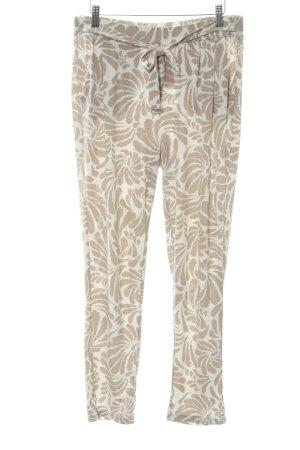 Comma Pantalone fitness bianco-marrone chiaro modello misto stile casual