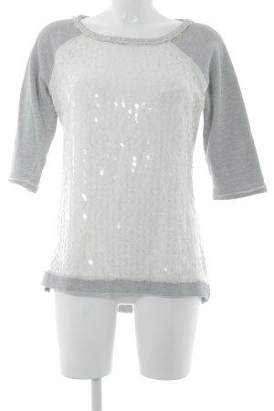 Comma Sweatshirt hellgrau-wollweiß Casual-Look