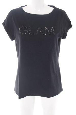 Comma T-Shirt schwarz Street-Fashion-Look