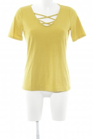 Comma T-Shirt dunkelgelb Casual-Look