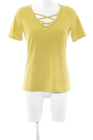 Comma Camiseta amarillo oscuro look casual