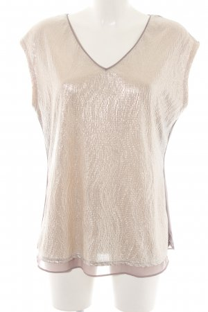 Comma T-Shirt goldfarben-blasslila Elegant
