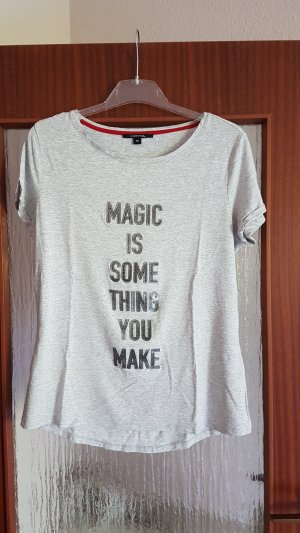 Comma T-shirt lichtgrijs-grijs
