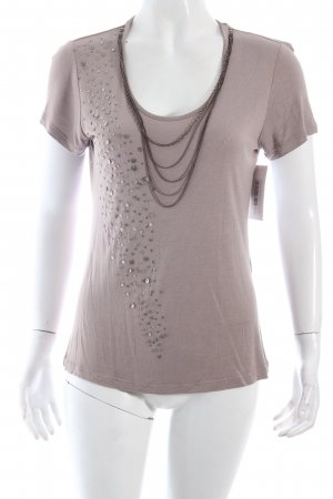 Comma T-Shirt graubraun Casual-Look