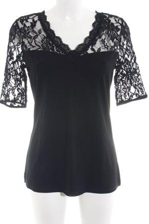 Comma T-shirt zwart elegant