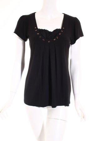 Comma T-Shirt schwarz klassischer Stil