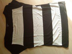 Comma   T-Shirt schwarz weiß Blockstreifen in 40