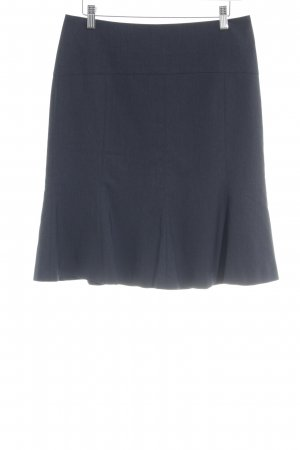 Comma Falda circular azul oscuro look casual