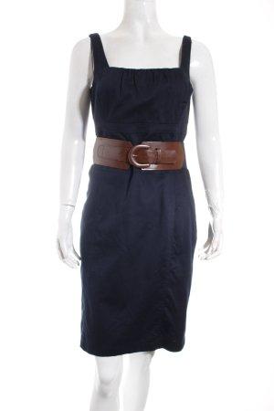 Comma Trägerkleid dunkelblau-braun Casual-Look