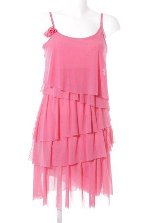 Comma Trägerkleid pink Lagen-Look