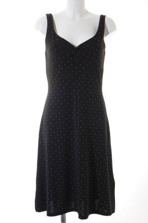 Comma Trägerkleid schwarz-weiß Punktemuster 50ies-Stil