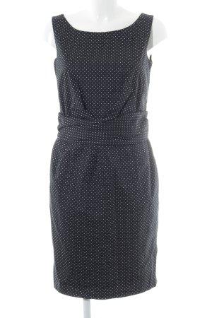Comma Trägerkleid schwarz-weiß Punktemuster Elegant