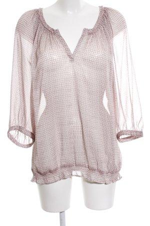 Comma Transparenz-Bluse pink Punktemuster Transparenz-Optik