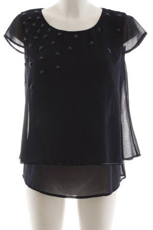 Comma Transparenz-Bluse schwarz Elegant