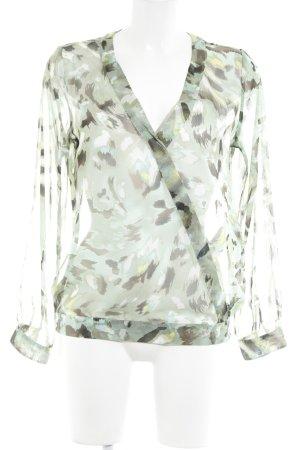 Comma Transparenz-Bluse abstraktes Muster Elegant