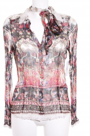 Comma Transparenz-Bluse abstraktes Muster Romantik-Look
