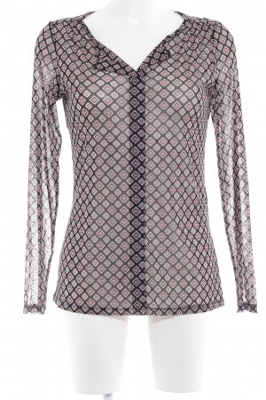 Comma Transparante blouse volledige print transparante uitstraling