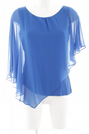 Comma Transparenz-Bluse blau Casual-Look