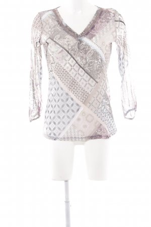 Comma Blouse transparente Mélange de motifs style hippie