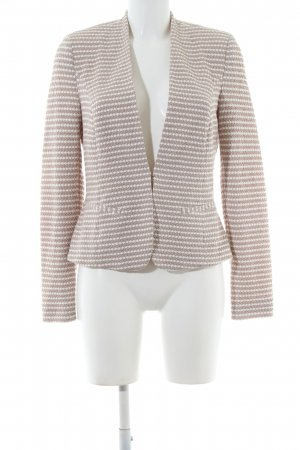 Comma Tweed Blazer natural white-white allover print business style