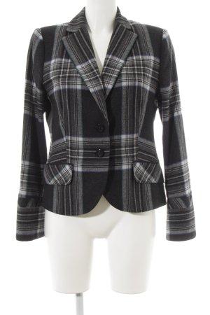 Comma Tweed blazer geruite print zakelijke stijl