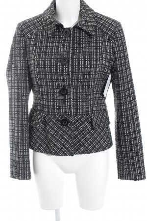 Comma Tweedblazer schwarz-weiß abstraktes Muster Business-Look