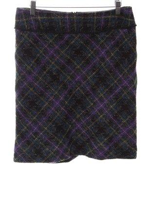 Comma Tweed rok lila-zwart volledige print zakelijke stijl
