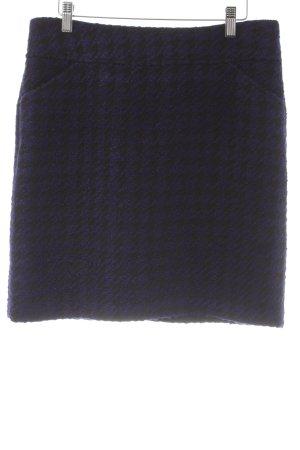 Comma Tweedrock schwarz-dunkelblau Elegant