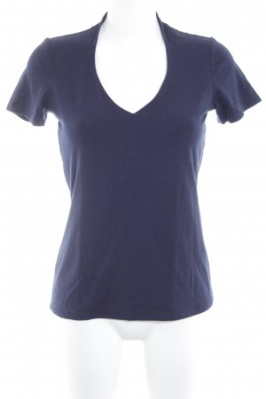 Comma U-Boot-Shirt dunkelblau Casual-Look