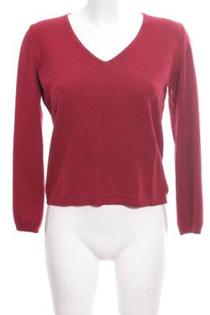 Comma V-Ausschnitt-Pullover rot Business-Look