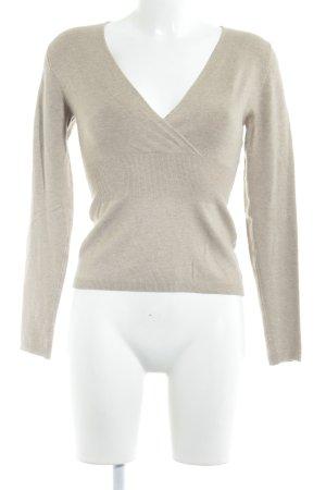 Comma V-Ausschnitt-Pullover beige Casual-Look
