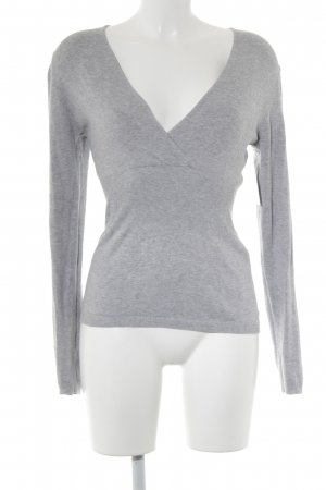 Comma V-Neck Sweater light grey flecked elegant