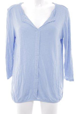 Comma V-Ausschnitt-Pullover himmelblau meliert schlichter Stil