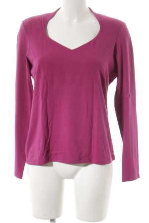 Comma V-Neck Sweater magenta casual look