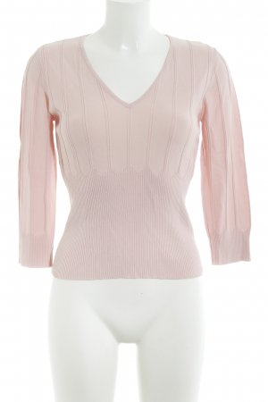 Comma V-Neck Sweater pink zigzag pattern casual look