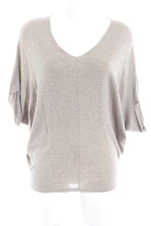 Comma V-Ausschnitt-Shirt beige-camel Casual-Look