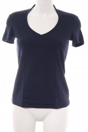 Comma V-Neck Shirt blue casual look
