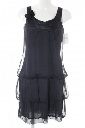 Comma Flounce Dress dark blue elegant