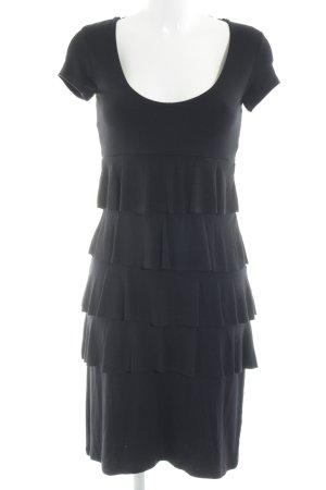 Comma Volante jurk zwart feest stijl