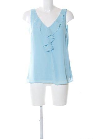 Comma Flounce Top blue casual look